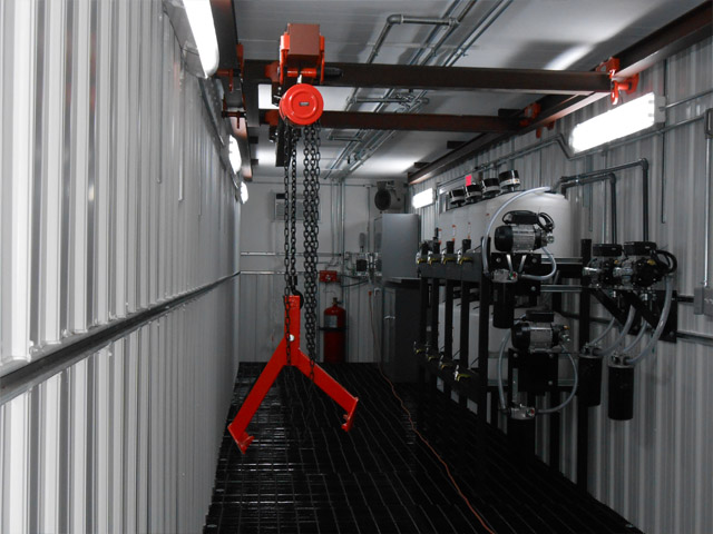 Lubrication Storage Room Drum Trolley System Reliable
