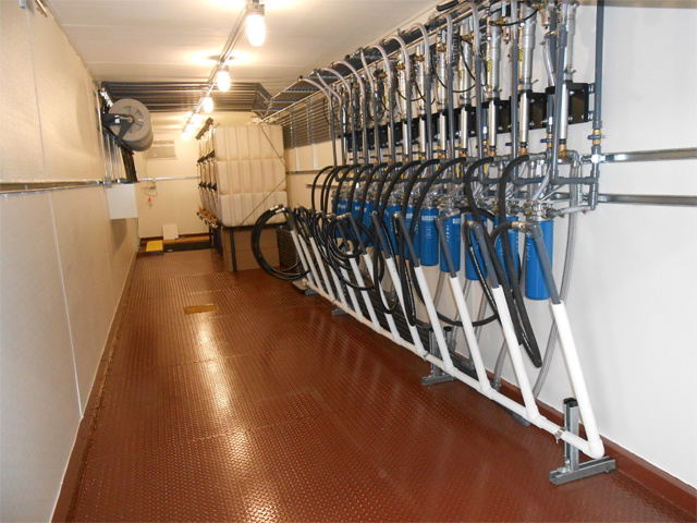 Full Oil Spill Containment Storage Room