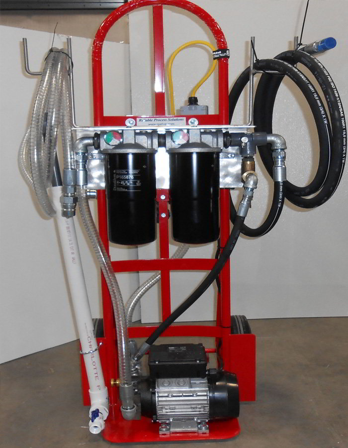 Retractable Extension Cord >> Filter Carts - Portable Oil Filtration - Reliable Process Solutions, LLC
