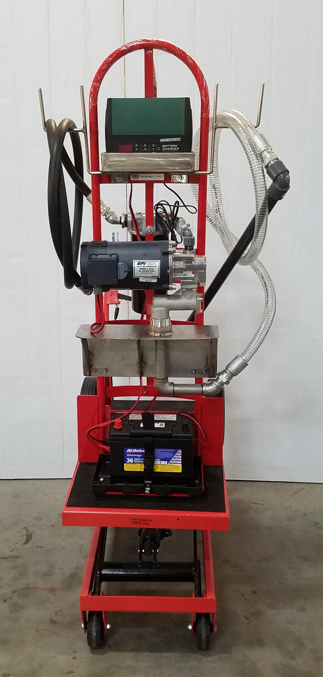 Battery Pack Oil Filter Cart