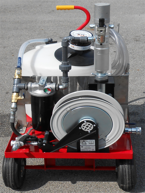 4-wheel-lubrication-portable-system