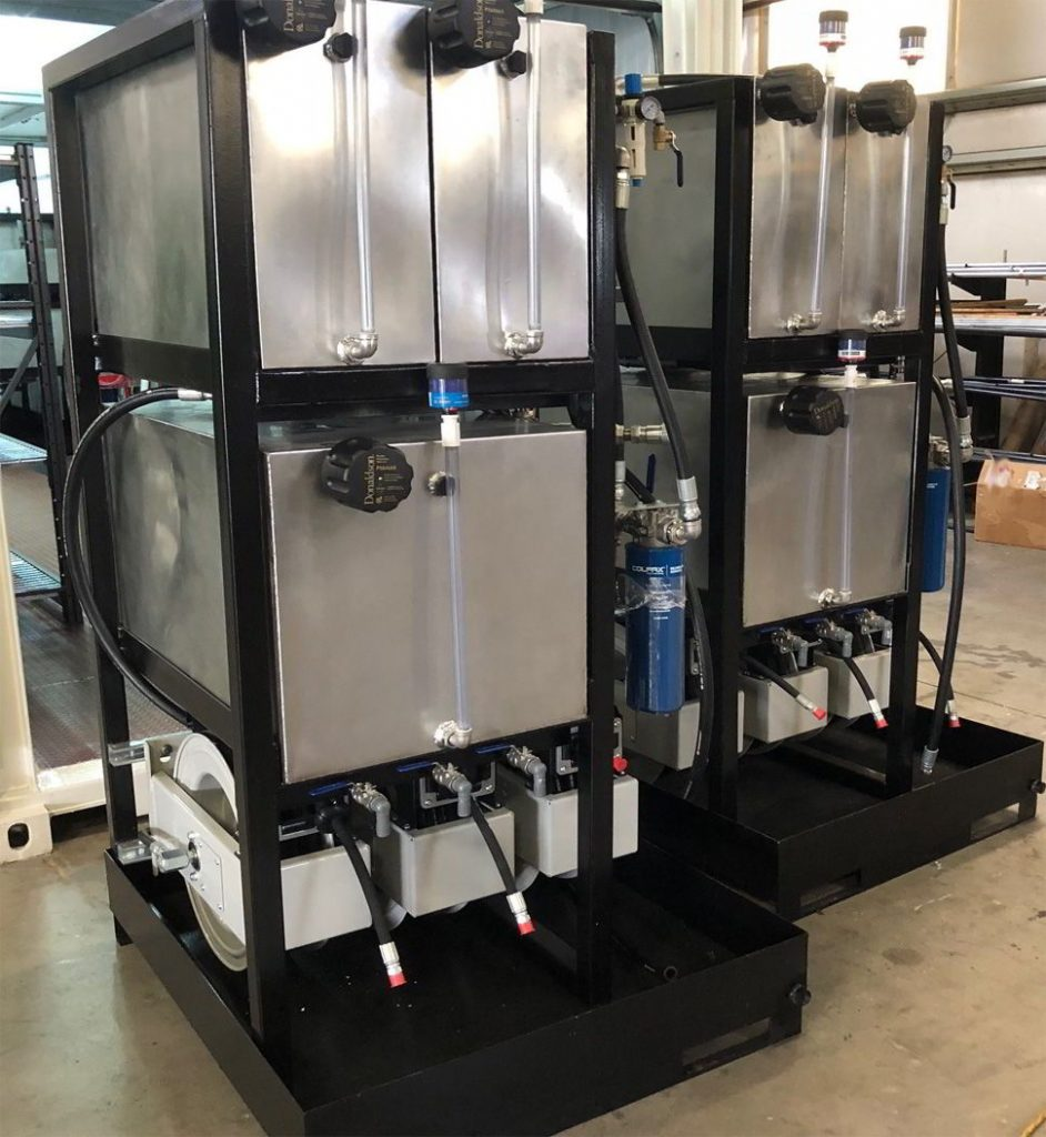 stainless steel oil storage and filtration