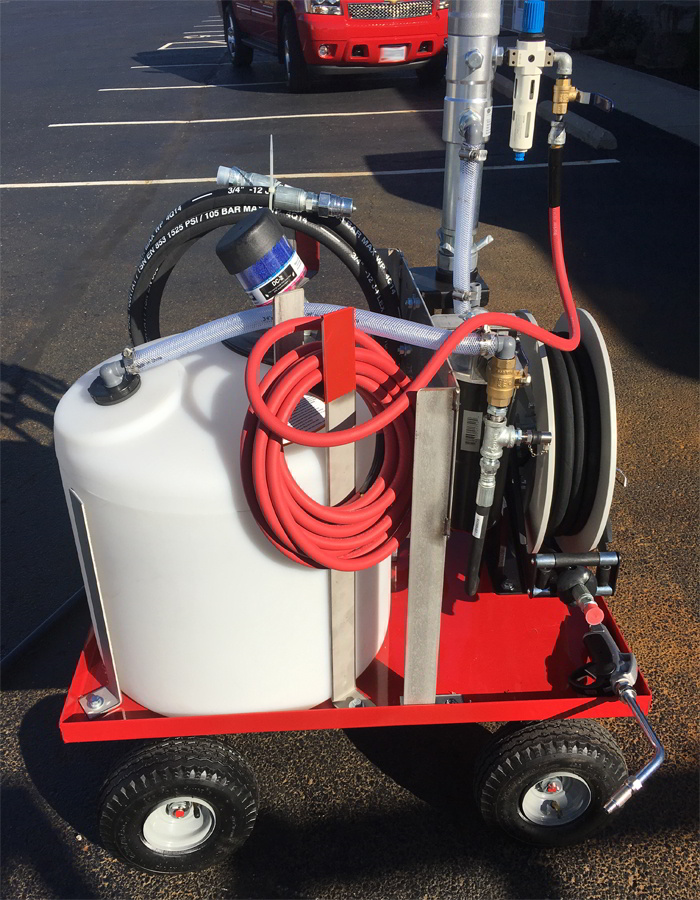 4 Wheel Lubrication Trailer