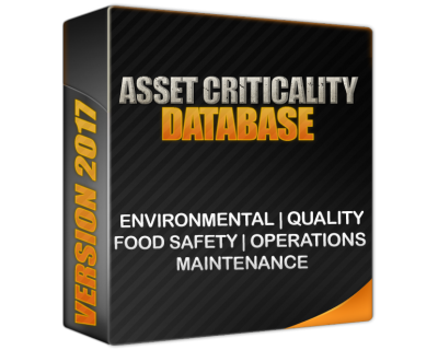 equipment criticality - asset criticality reliability databases