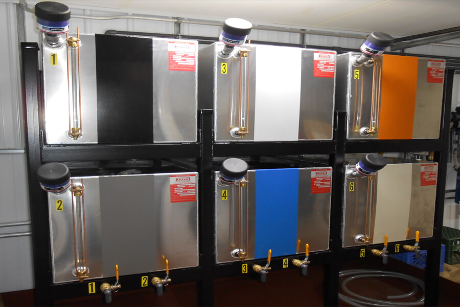 6 Tank Aluminum Tanks - Color Coded System