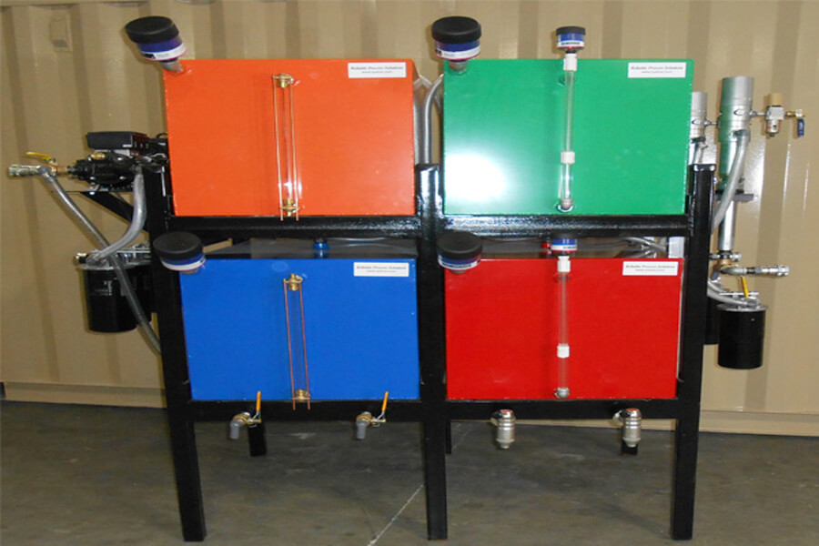 lubrication filtration unit - color coding lube