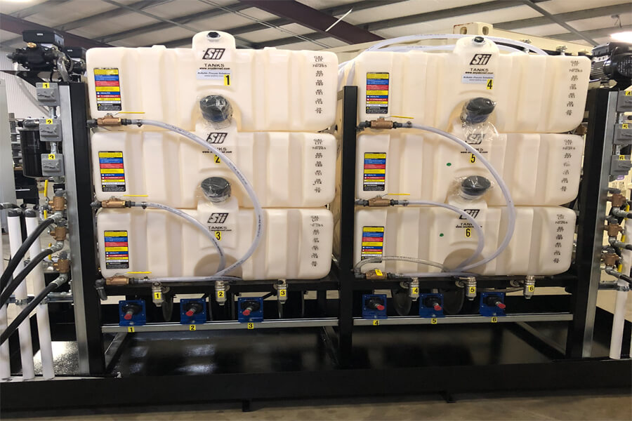 lubrication filtration system plastic tanks