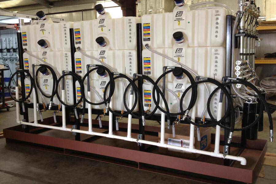 Plastic 9 Tank System - Pneumatic Pumps