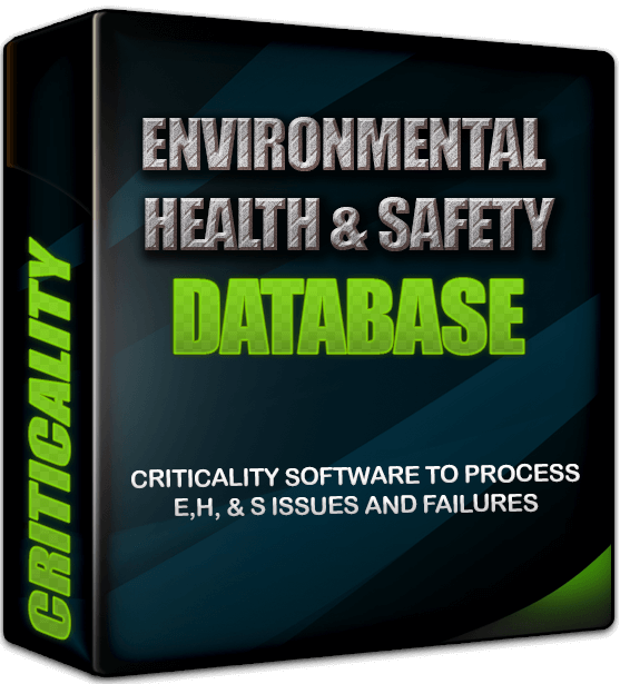environmental health and safety criticality ranking software reliability databases